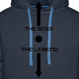 the boss and the legend - Men's Premium Hoodie