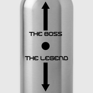 the boss and the legend - Water Bottle
