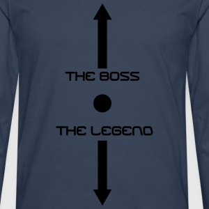 the_boss_the_legend T-skjorter - Premium langermet T-skjorte for menn