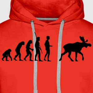 Evolution Moose  T-shirts - Premiumluvtröja herr