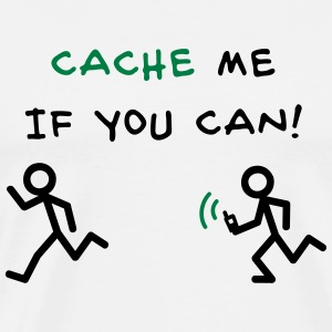 GeoCache me if you can Gensere - Premium T-skjorte for menn