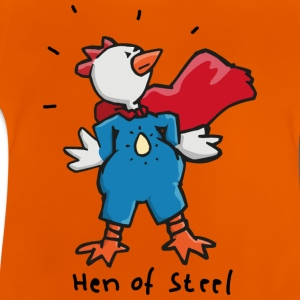 Hen of Steel - Superchicken Skjorter - Baby-T-skjorte
