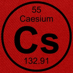 Element 55 - cs (caesium) - Full (round) T-shirts - Snapbackkeps