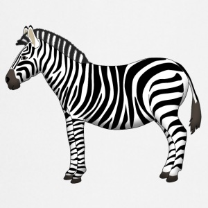 Zebra side T-shirts - Keukenschort