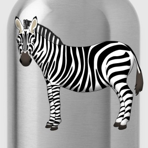 Zebra head front T-Shirts - Water Bottle