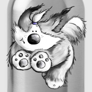 Flying Bearded Collie - T-Shirt - Trinkflasche