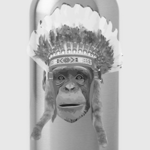 indian headdress monkey T-shirts - Drikkeflaske