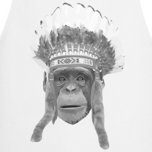 indian headdress monkey Camisetas - Delantal de cocina