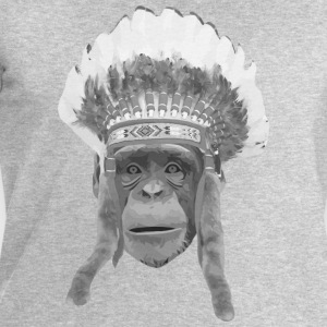 indian headdress monkey Shirts - Mannen sweatshirt van Stanley & Stella