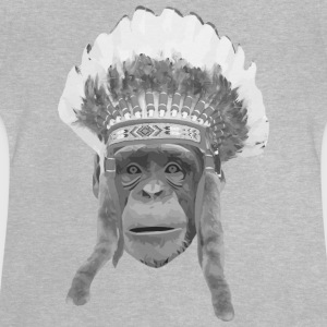 indian headdress monkey Camisetas - Camiseta bebé