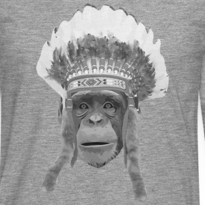 indian headdress monkey T-shirts - Långärmad premium-T-shirt herr