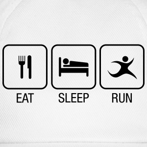 Eat, Sleep, Run T-skjorter - Baseballcap