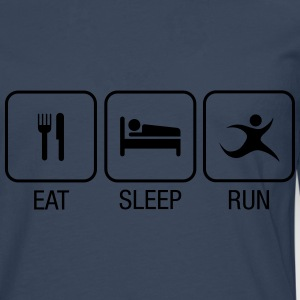 Eat, Sleep, Run T-skjorter - Premium langermet T-skjorte for menn