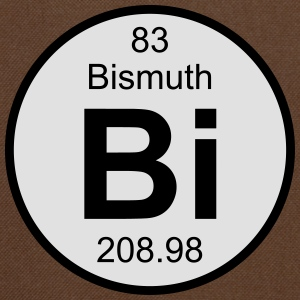 Element 83 - bi (bismuth) - Round (white) T-shirts - Schoudertas