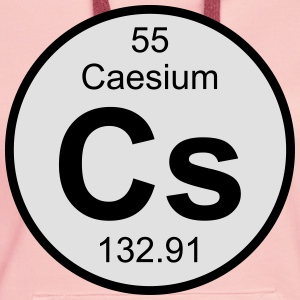 Element 55 - cs (caesium) - Round (white) T-shirts - Premiumluvtröja dam