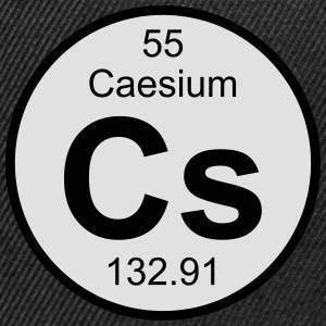 Element 55 - cs (caesium) - Round (white) T-shirts - Snapbackkeps