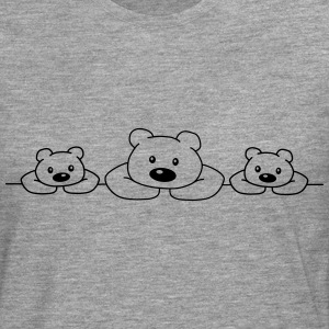 3 Bears T-Shirts - Men's Premium Longsleeve Shirt
