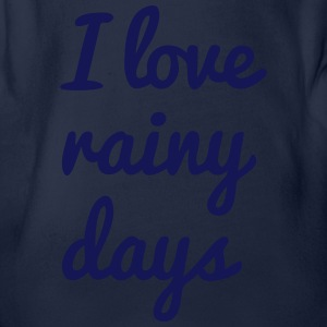 i love rainy days Shirts - Organic Short-sleeved Baby Bodysuit
