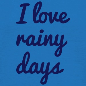 i love rainy days jag älskar regniga dagar Paraply - T-shirt herr