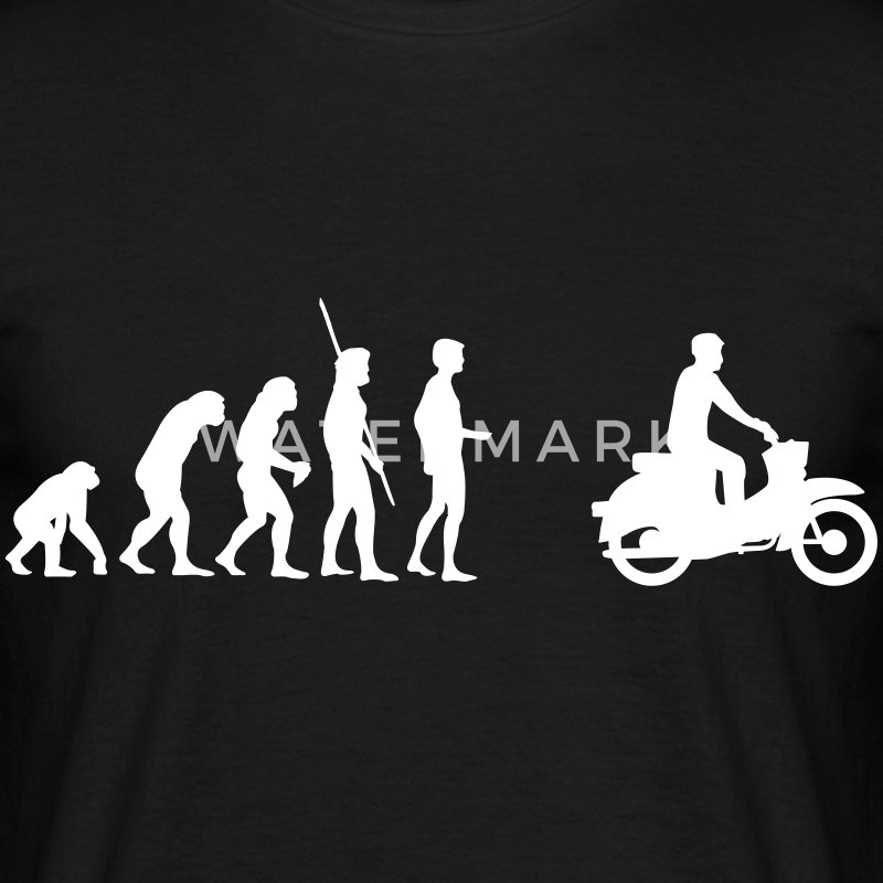 Evolution Simson Schwalbe T-Shirts - Men's T-Shirt
