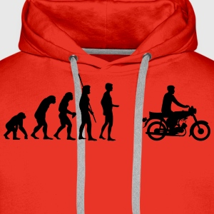 Evolution Simson Moped T-Shirts - Men's Premium Hoodie