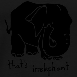 Irrelephant pun bag - Men's Premium T-Shirt