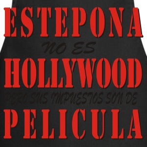 Negro/blanco estepona_hollywood Camisetas - Delantal de cocina