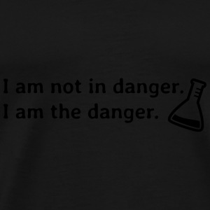 I am not in danger. I am the danger. Bags & backpacks - Men's Premium T-Shirt