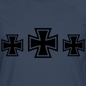 3 Iron Cross T-skjorter - Premium langermet T-skjorte for menn