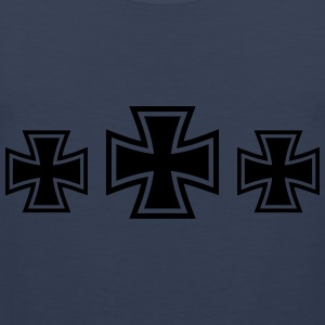 3 Iron Cross T-shirts - Herre Premium tanktop