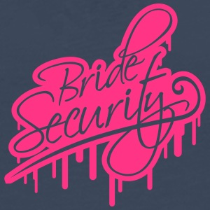 Bride Security Graffiti T-skjorter - Premium langermet T-skjorte for menn
