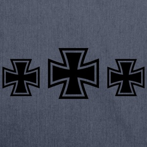 3 Iron Cross T-shirts - Skuldertaske af recycling-material
