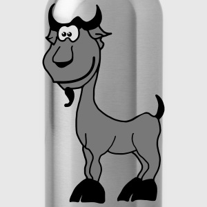 Goat Capricorn zodiac animal comic T-Shirts - Water Bottle