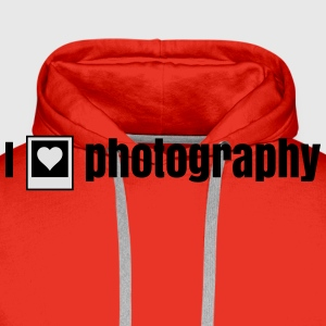 i heart photography - i love photography T-Shirts - Men's Premium Hoodie
