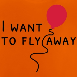 i want to fly away jeg ønsker at flyve væk T-shirts - Baby T-shirt