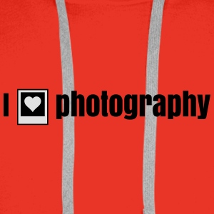 i heart photography - i love photography Bags & backpacks - Men's Premium Hoodie