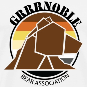 Logo 1 GRRRNOBLE BEAR ASSOCIATION Nounours - T-shirt Premium Homme