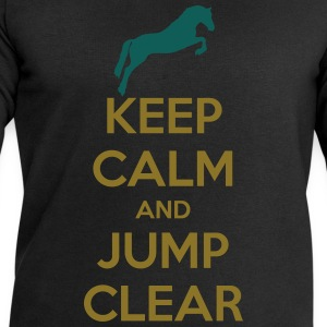 Keep Calm and Jump Clear Horse Design T-Shirts - Männer Sweatshirt von Stanley & Stella