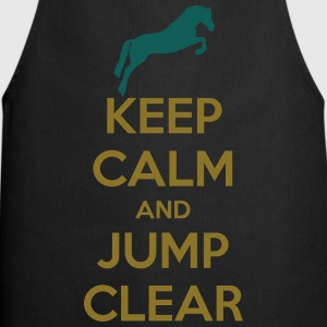 Keep Calm and Jump Clear Horse Design T-shirts - Forklæde
