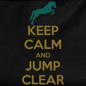 Keep Calm and Jump Clear Horse Design T-shirts - Rygsæk til børn