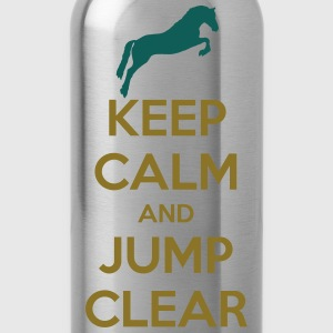 Keep Calm and Jump Clear Horse Design T-skjorter - Drikkeflaske