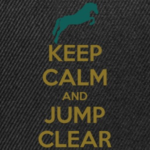 Keep Calm and Jump Clear Horse Design T-skjorter - Snapback-caps