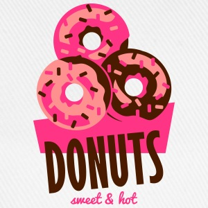 Donuts - Sweet and Hot T-shirts - Baseballkasket