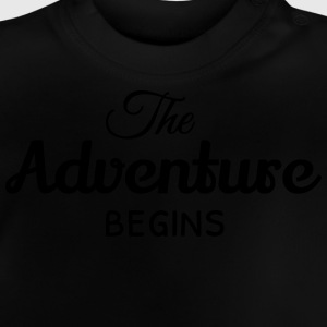 the adventure begins la aventura comienza Camisetas - Camiseta bebé