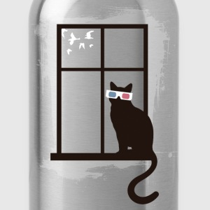 Cinema Cat T-Shirts - Water Bottle