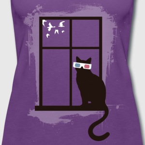 Cinema Cat T-Shirts - Women's Premium Tank Top