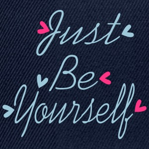 Just Be yourself Women's V-Neck T-shirt - Snapback Cap