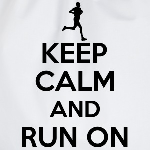 Keep calm and run on T-Shirts - Turnbeutel