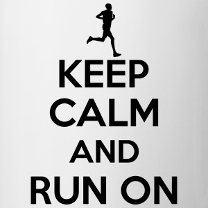 Keep calm and run on Tee shirts - Tasse