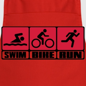 Triathlon - Swim, Bike, Run T-shirts - Keukenschort